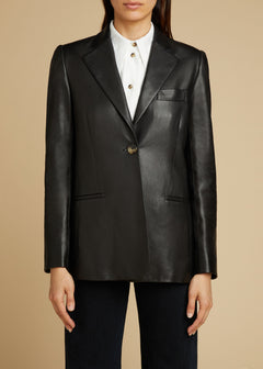 The Vera Blazer in Black Leather