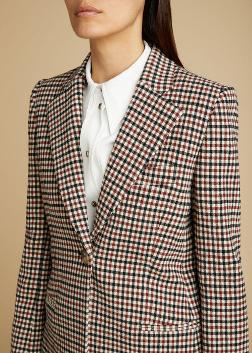 The Vera Blazer in Red Check