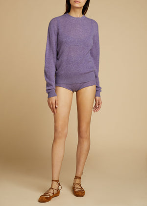 The Belinda Short in Amethyst