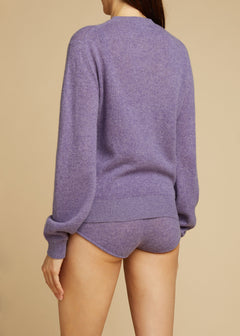 The Viola Sweater in Amethyst