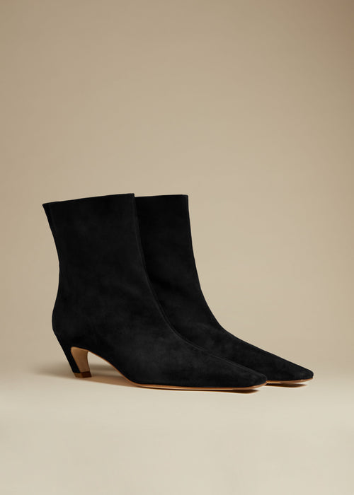 The Arizona Boot in Black Suede