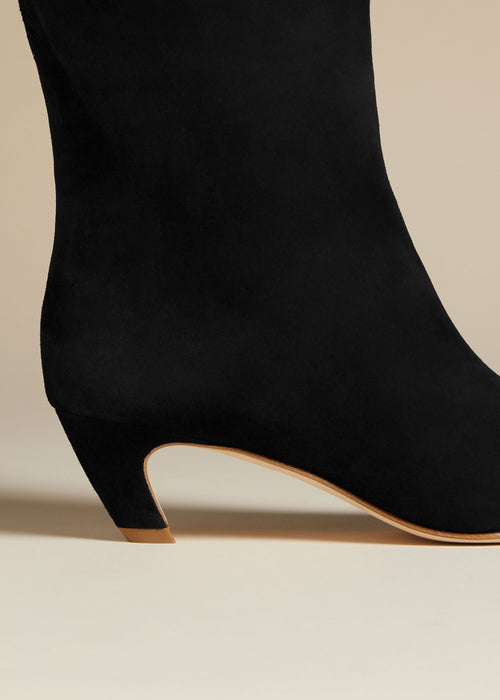 The Davis Boot in Black Suede