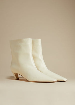 The Arizona Boot in Ivory Leather