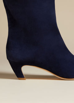 The Ankle Boot in Midnight Suede
