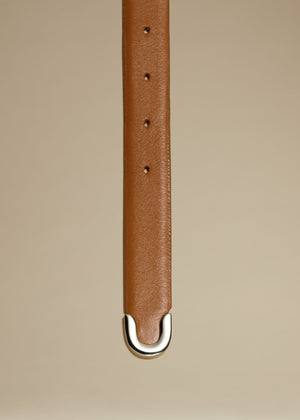 The Bambi Belt in Caramel with Silver