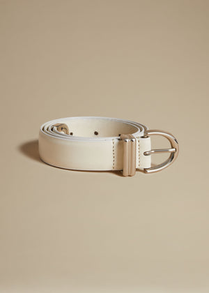 The Bambi Belt in Cream with Silver