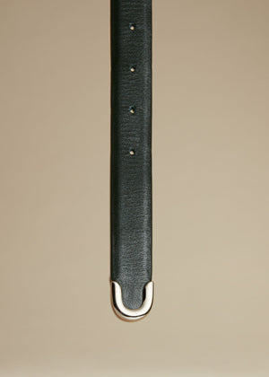 The Bambi Belt in Hunter Green with Silver