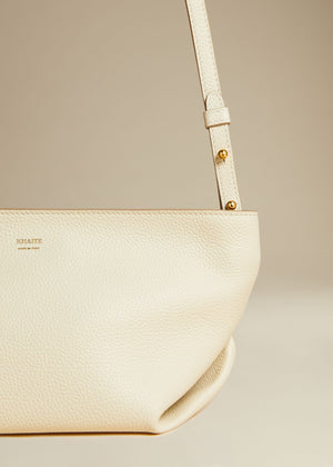 The Adeline Crossbody Bag in Cream Leather