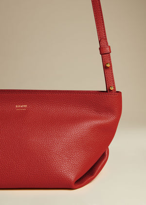 The Adeline Crossbody Bag in Deep Rose Leather