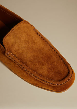 The Darien Loafer in Caramel Suede
