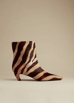 The Ankle Boot in Zebra Haircalf