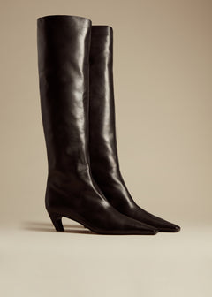 The Knee-High Boot in Black Leather
