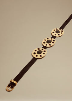 The Helena Trio Belt in Gold with Garnets