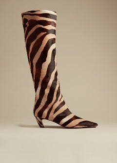 The Knee-High Boot in Zebra Haircalf