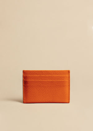 The Card Case in Sienna Leather