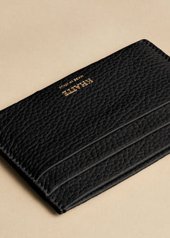 The Card Case in Black Leather