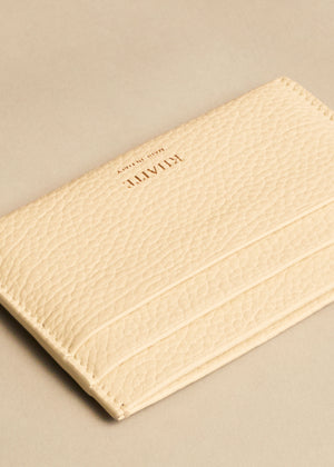 The Card Case in Cream Leather