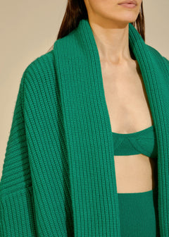 The Aceline Cardigan in Kelly Green