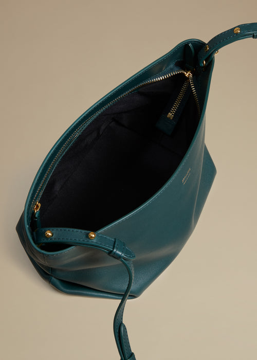 The Adeline Crossbody Bag in Hunter Green Leather