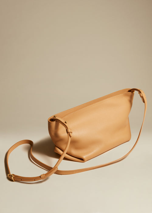 The Adeline Crossbody Bag in Tan Leather