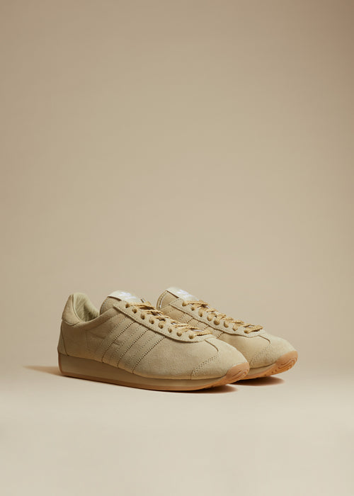 The KHAITE x Adidas Originals Sneaker in Camel