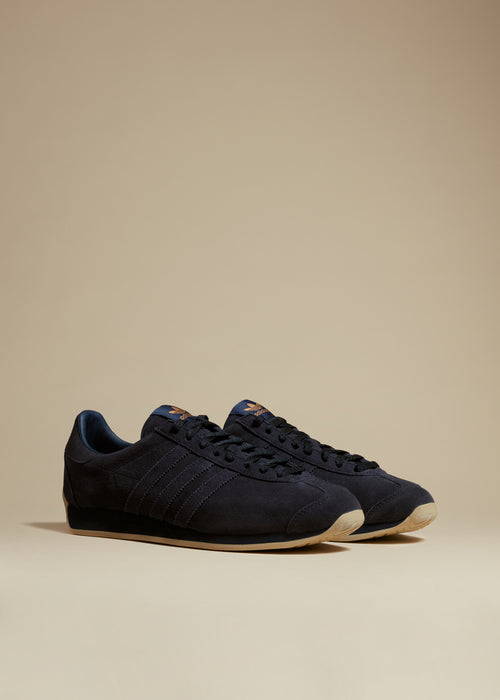 The KHAITE x Adidas Originals Sneaker in Navy - W 5.5 / Navy / 100% Leather