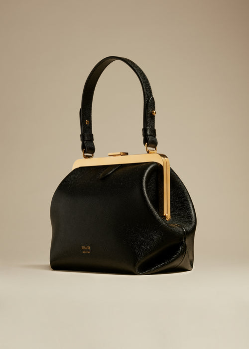 The Small Agnes Bag in Black Caviar Leather