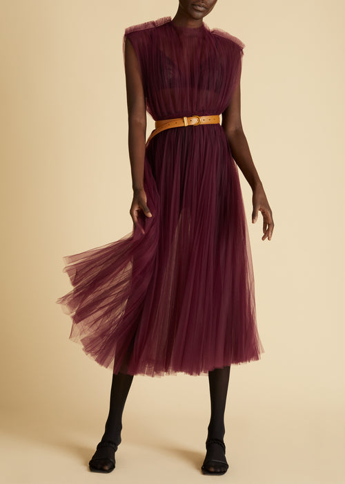 The Alix Dress in Bordeaux