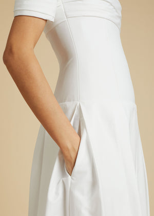 The Amanda Dress in White