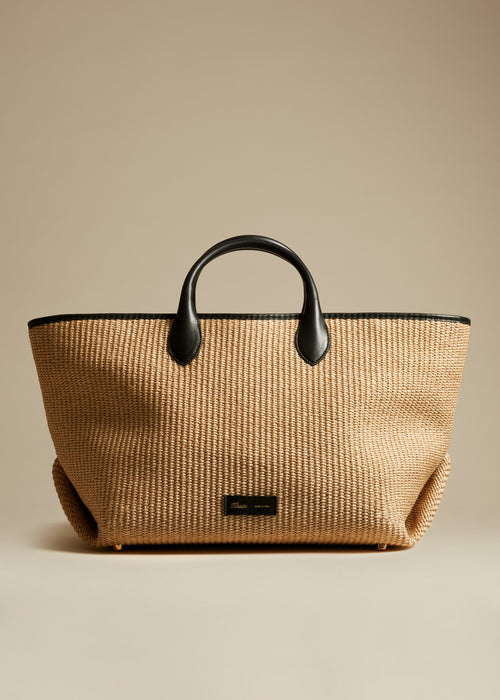 The Medium Amelia Tote in Natural Raffia