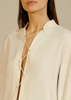 The Athena Top in Ivory