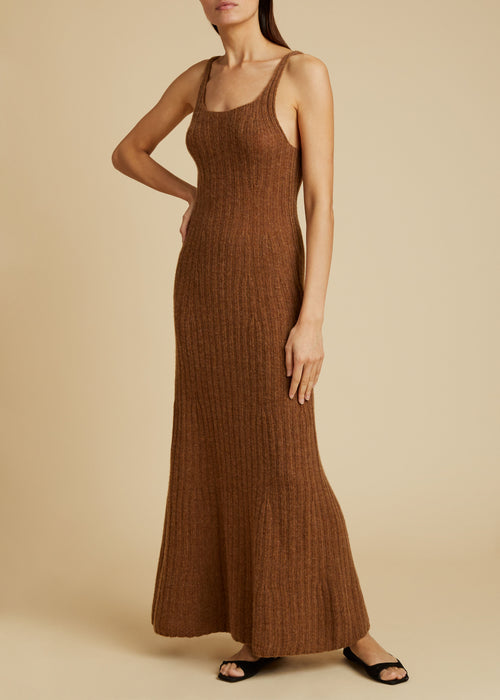 The Beryl Knit Dress in Mocha
