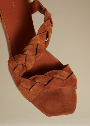 The Torrance Sandal in Cognac Suede