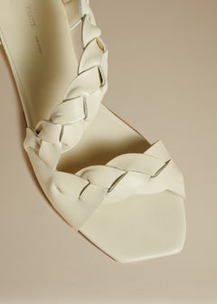 The Torrance Sandal in Cream Leather