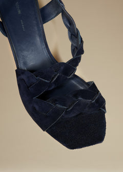 The Warren Heel in Midnight Suede