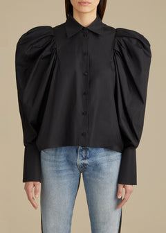 The Brianne Top in Black