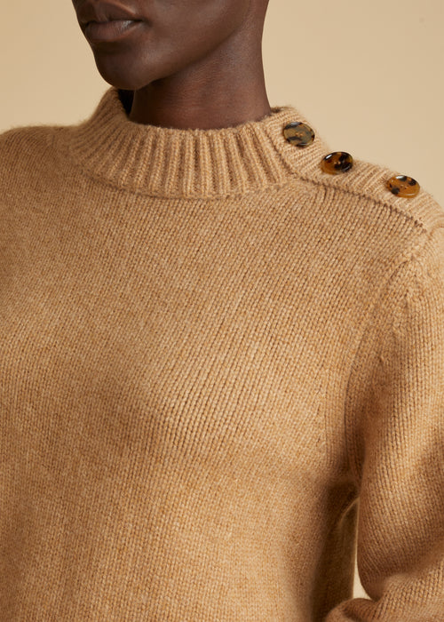 The Brie Sweater in Camel