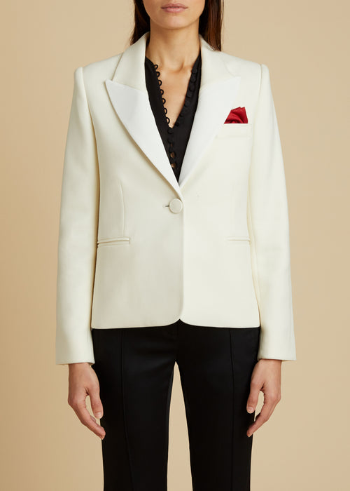 The Brita Blazer in Ivory