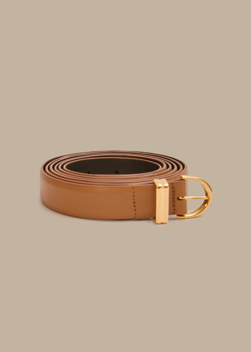 The Brooke Double-Wrap Belt in Caramel