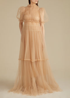 The Calista Gown in Nude