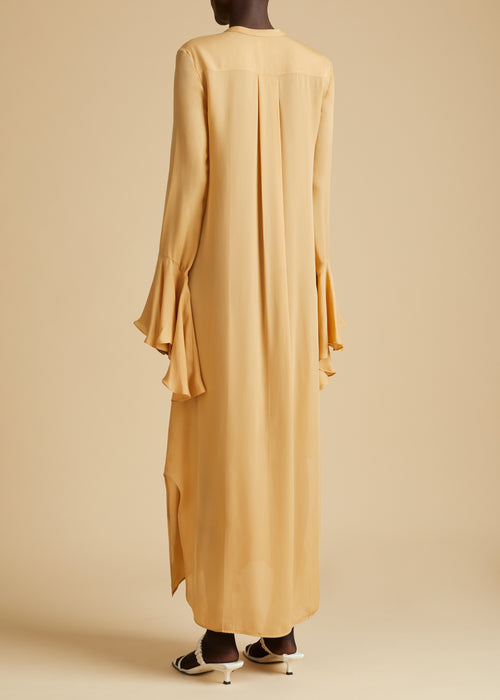 The Callen Dress in Beige
