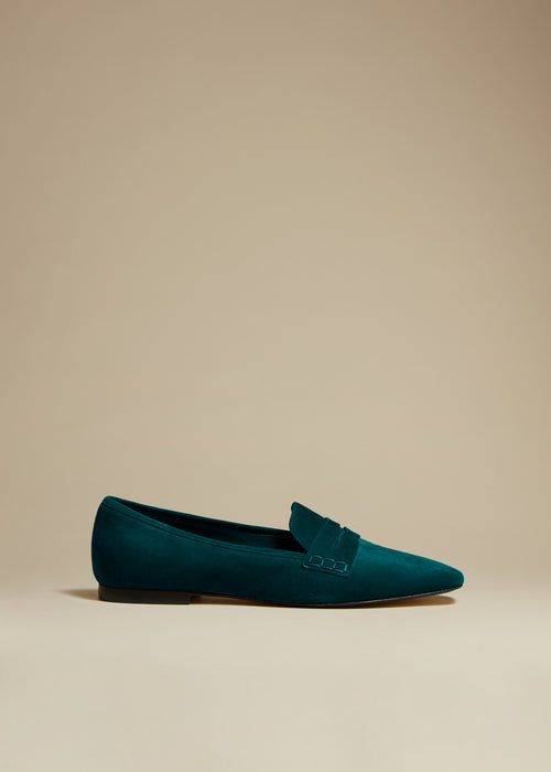 The Carlisle Loafer in Hunter Green Suede