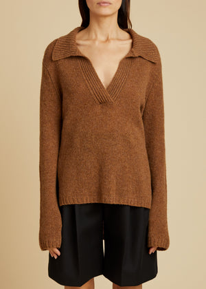 The Cass Sweater in Mocha