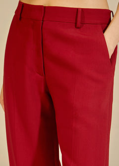 The Catherine Pant in Oxblood