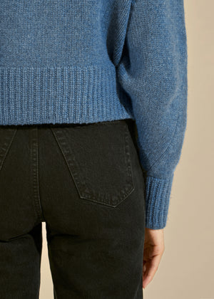 The Charlette Sweater in Denim Blue