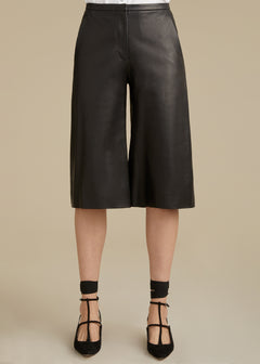 The Charlie Short in Black Leather
