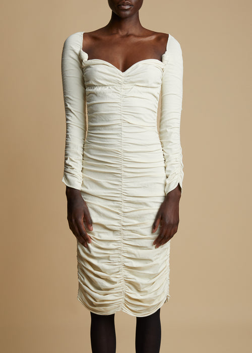 The Charmaine Dress in Ivory