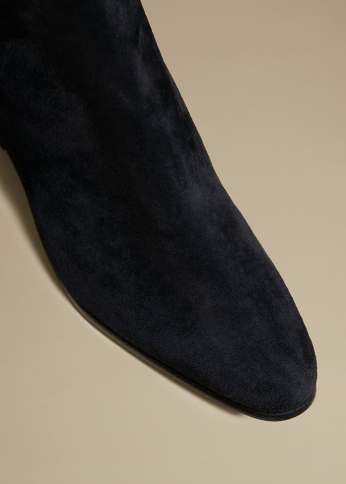 The Chester Boot in Black Suede