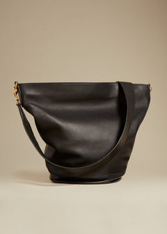 The Circle Hobo in Black Leather