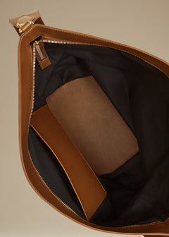 The Circle Hobo in Caramel Leather